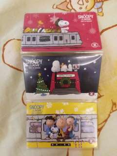 Snoopy MTR ticket 紀念車票