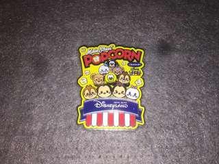香港迪士尼 徽章 Disney Pin Popcorn & Pretzel Tsum Tsum