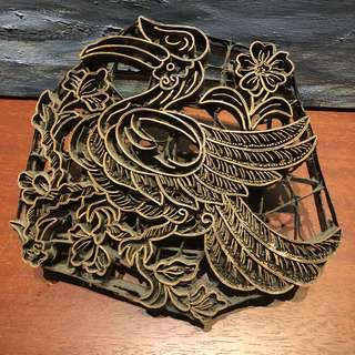 Large antique batik stamp
