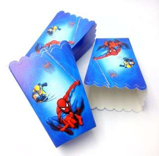 💥Superheroes Spiderman party supplies - popcorn boxes