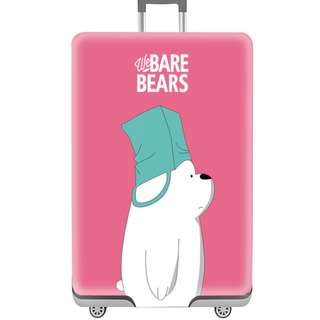 Pink Bare Bears luggage cover