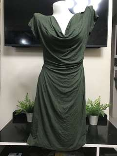 ZA ZEN Seaweed Cotton Dress