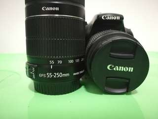 Canon 1100D 18-55mm 55-250mm