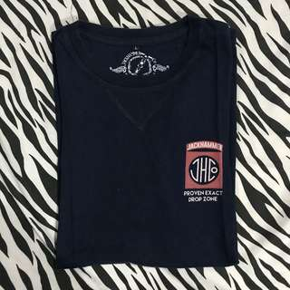Jackhammer co tshirt navy drop zone sz l