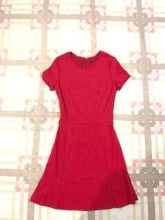 Mango suit red dress