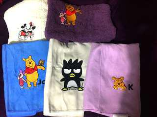 Christmas.. Customised towels for sales - character and names