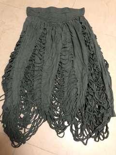 Cheap Monday snake cut out skirt