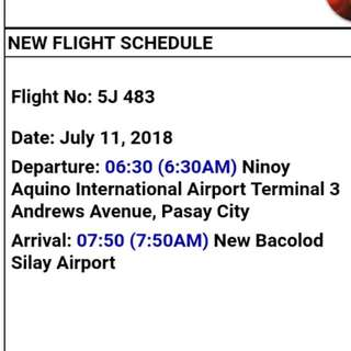Airplane Ticket (MNL-BCD-MNL)