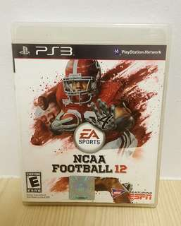 🚚 [Clearance] PS3 NCAA Football 12