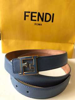 Fendi Belt blue color preloved
