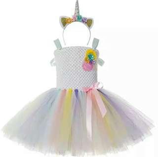 Little pony unicorn tutu dress with headband