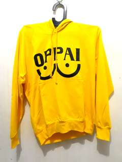 ONE PUNCH MAN OPPAI HOODIE YELLOW