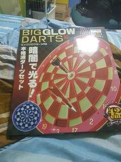 Big Glow Dart Board - Red Coloutr
