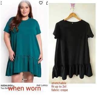 Plus size doll dress
