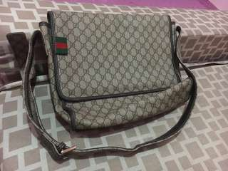 100% authentic Gucci Unisex Messenger Bag size: L-14inch W-4inch H-12inch