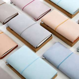 🚚 📘📘📘📘 [PREORDER] Real Waxed Leather  Midori Styled Traveler's Notebook, Planner, Journal [without accessories]