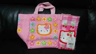 Hello Kitty 細手挽布袋及布索袋