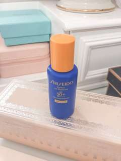 💚 Shiseido perfect uv protector • spf50+ pa ++++ very water resistant • wer force • travel size 15ml