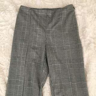 Grid flare pants