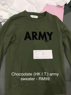 HK I.T chocoolate ARMY sweater