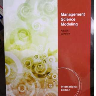 Management Science Modelling