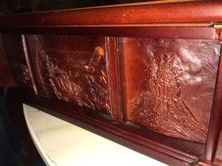 美國金幣木制四邊雕刻儲存箱