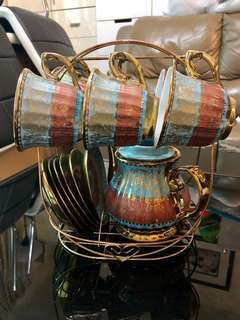 杜拜購入 茶壺茶杯連碟套裝