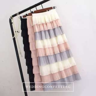 The Lara Bridesmaids Tiered Skirt
