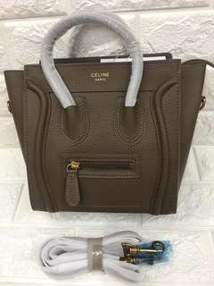 Celine nano luggage with sling authsntic