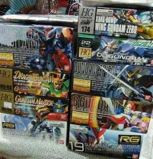 Gundam model kit hg,rg,mg