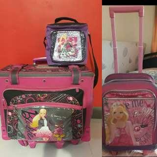 BUY1 TAKE 1 Barbie Trolley School Bag