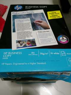 Hp Business copy paper A4 70g 500sheets x 2