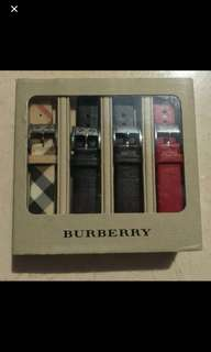 Authentic n New Burberry Leather Watch  Straps 1.6cm