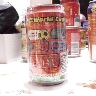 02年中東阿聯由世界杯可口可樂活動罐一個