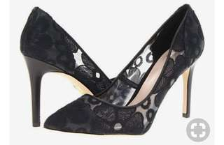 Truth or Dare By Madonna Fesenbek Black Lace Heels