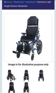 "Lifeline 18"" Reclining Lightweight Detachable Wheelchair (65/4050/18)"