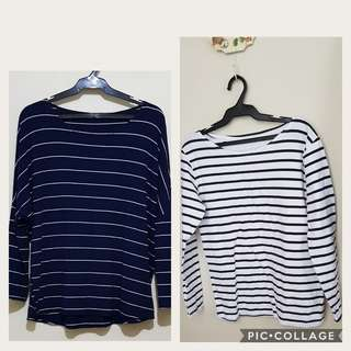 2 Striped Top both for 400 only