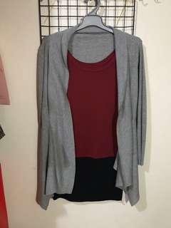 換物✅ 酒紅色包裙背心