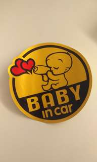 "[New] ""Baby In Car"" sticker"
