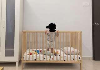 IKEA Gulliver cot + Mattress + Quilt Cover + Pillowcase