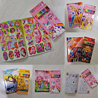 COMBO: Colouring book with Sticker & Colouring pencil - Goodie Bag