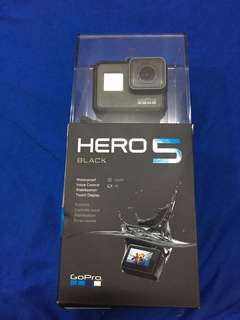 GoPro Hero 5 with 3-way pole, aqua pole and underwater case