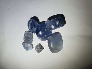 Raw natural blue marble set