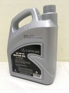 Car service included- Lexus 5W-40 Fully Synthetic Engine Oil (4L)