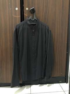 executive black shirt muscle fit size L