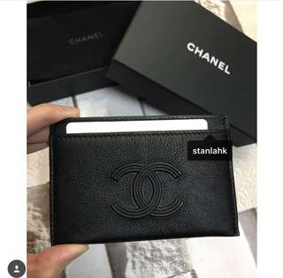 Chanel new season card holder ss18 卡片套