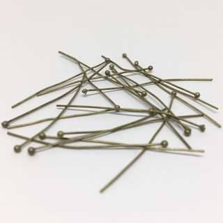 Antique Bronze Brass Ox Ballpins 35mm 20pcs Jewellery Jewelry Findings Craft Supplies Accessories