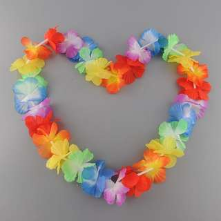 Artificial Hawaii Tropical Hula Grass Dance Flower Necklace Garlands