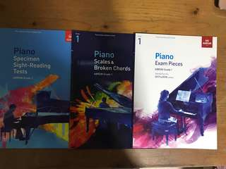 Grade 1 Piano exam pieces, scales and broken chords, specimen sight reading tests