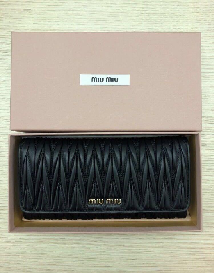 👛 Miu Miu Matelasse Wallet, Luxury, Bags   Wallets, Wallets on ... 2c7fc1cc5d